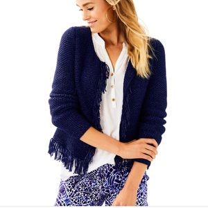 0f428680f89be8 ... Dress Slathouse Soirée NWT's Lilly Pulitzer Luanna Cardigan in True  Navy NWT's